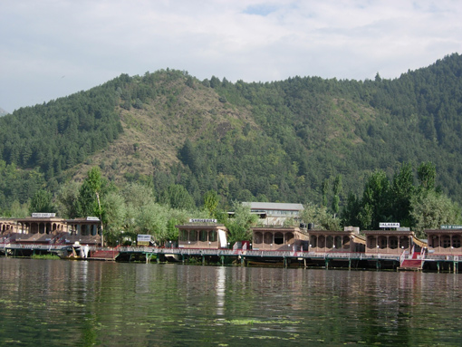 Houseboats on the Dal Lake in Srinagar, India