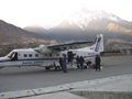 Himalayas. The airplane in Jomsom