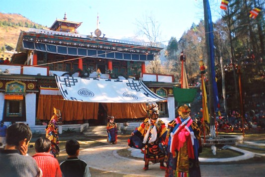 Sikkim. The traditional Gumpa dance