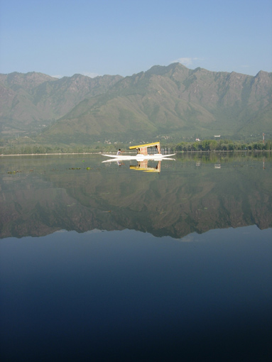 Dal Lake in Srinagar, India. Himalayas